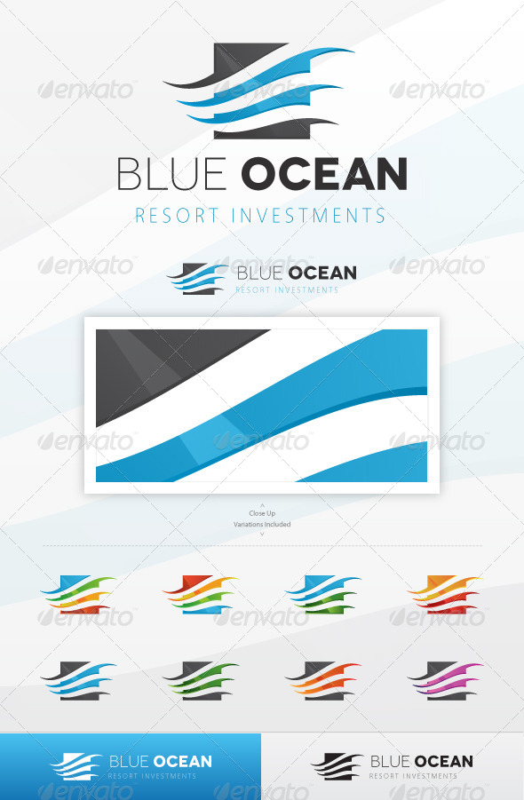 Blue Ocean Logo - Symbols Logo Templates
