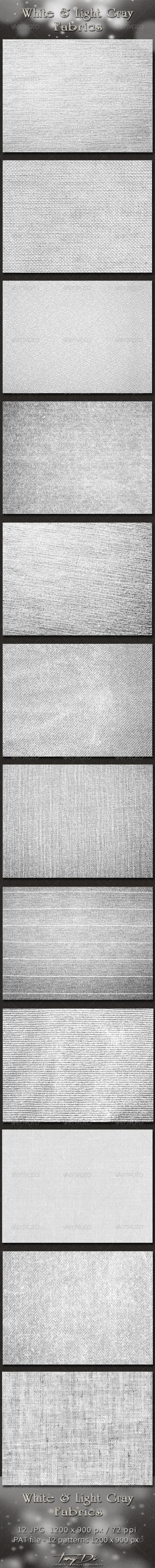 GraphicRiver White and Light Gray Fabrics 4373180