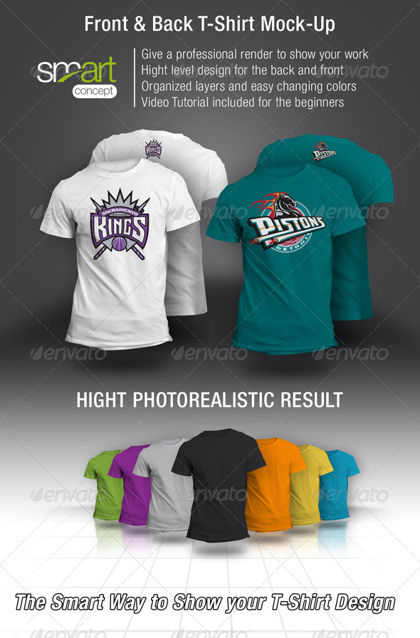 GraphicRiver Front and Back T-Shirt Mock-up 4407786