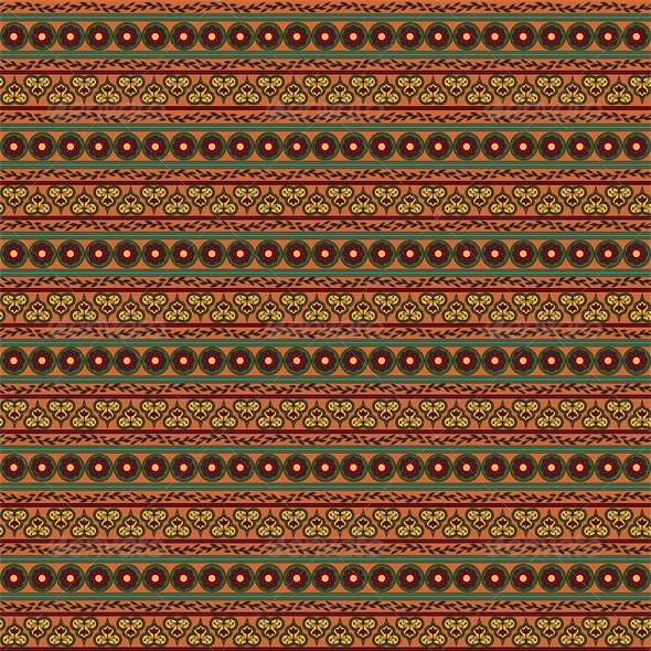 GraphicRiver Ethnic Seamless Floral Pattern Striped Background 4426668