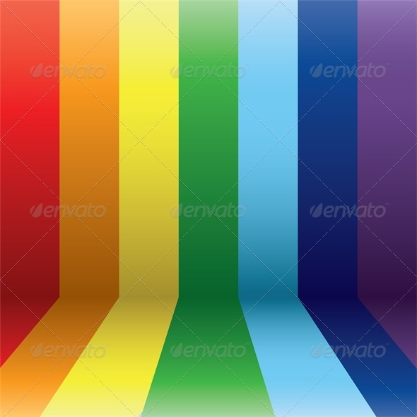GraphicRiver Vertical Rainbow Lines in Perspective 4426823
