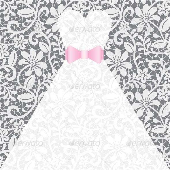 GraphicRiver Wedding Card with White Dress 4426874