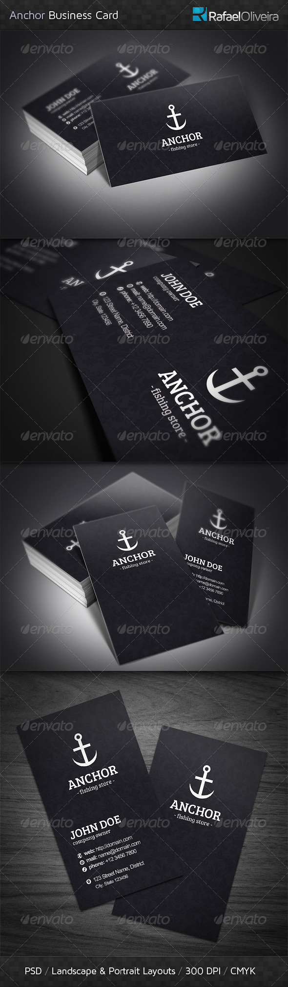 GraphicRiver Anchor Business Cards 4307137