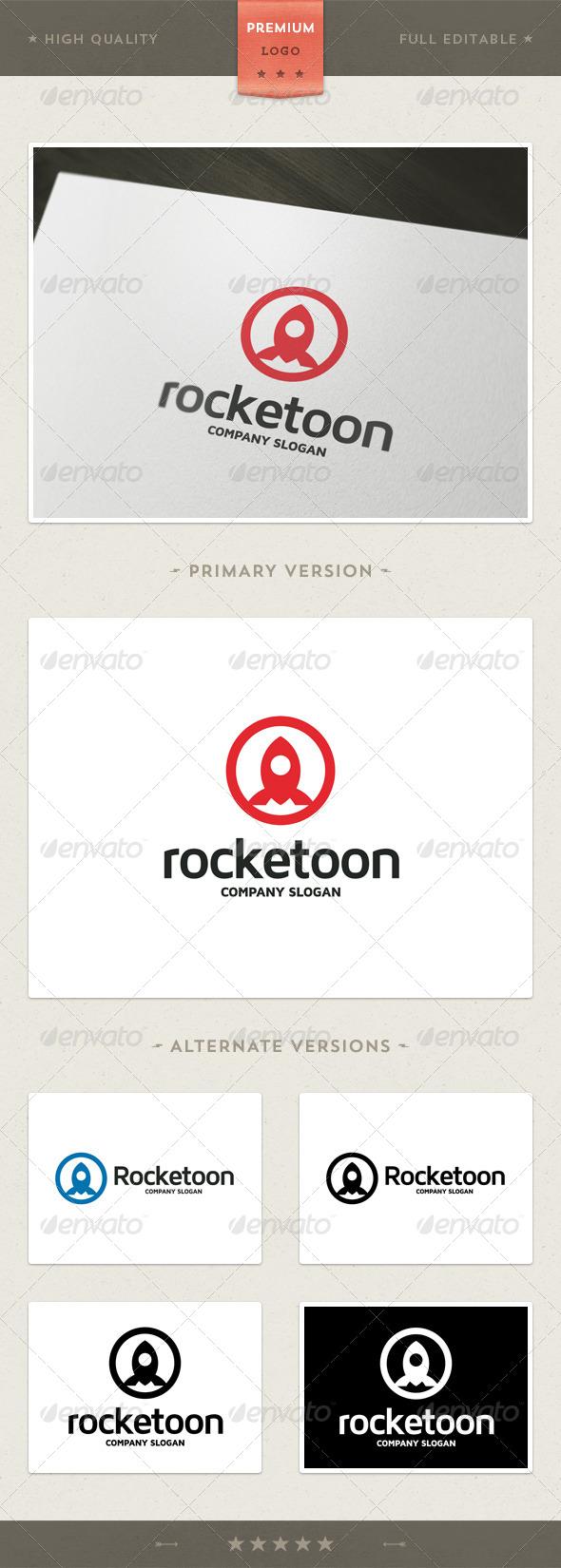 GraphicRiver Rocketoon Rocket Symbol Logo Template 4427887