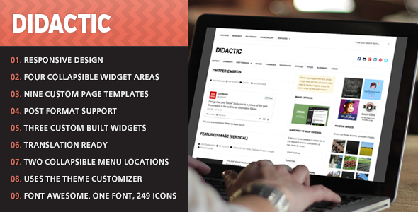 ThemeForest Didactic WordPress Theme 4418457