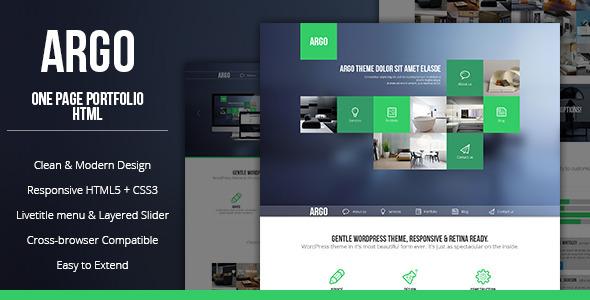 ThemeForest Argo Modern OnePage Bootstrap Metro UI Template 4427889