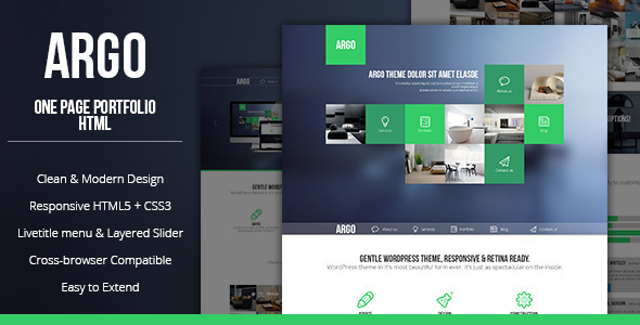 Argo - Modern OnePage Bootstrap Metro UI Template - Portfolio Creative