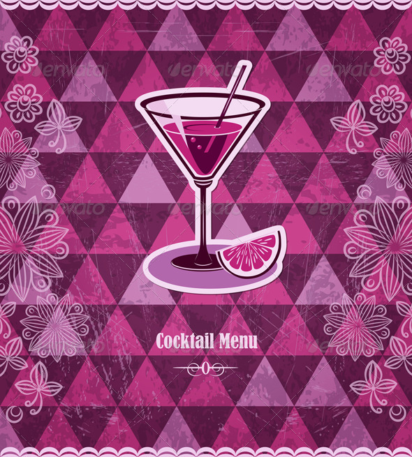 GraphicRiver Cocktail Vintage Mosaic Pattern 4428099