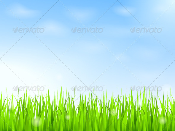 GraphicRiver Green Grass and Blue Sky 4428940