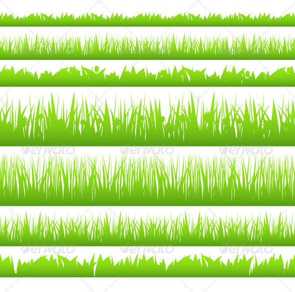 GraphicRiver Grass Silhouette 4428968