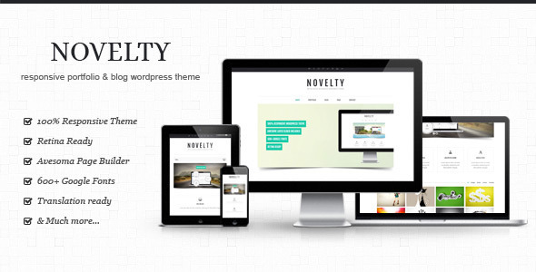 ThemeForest Novelty Retina Ready Responsive Wordpress Theme 4367335