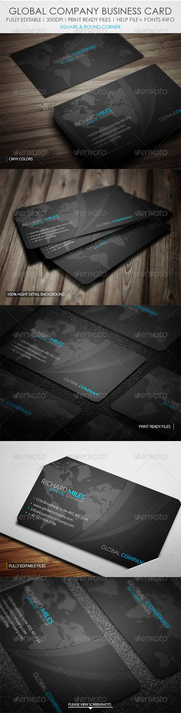 Global Group Business Card - Corporate Business Cards