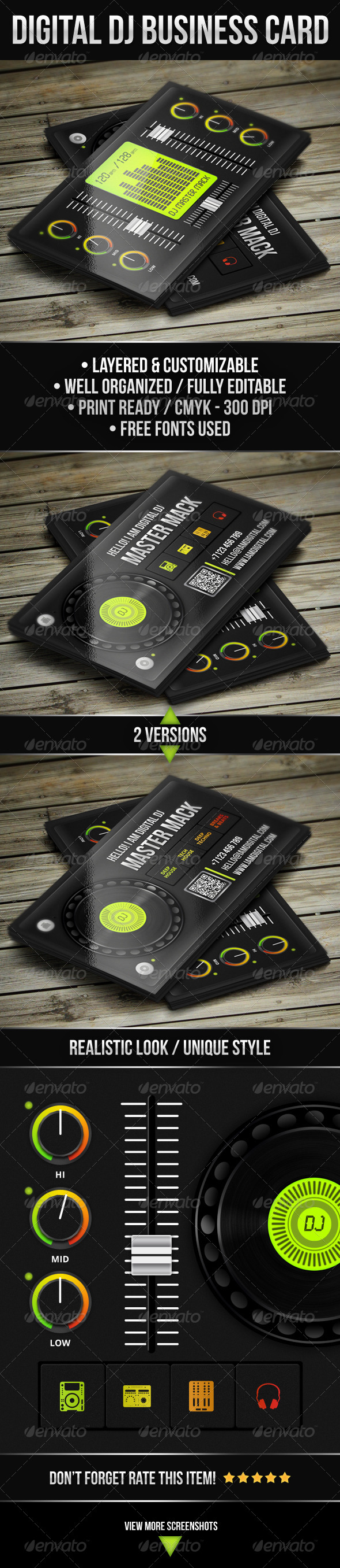 GraphicRiver Digital DJ Business Card 4243840