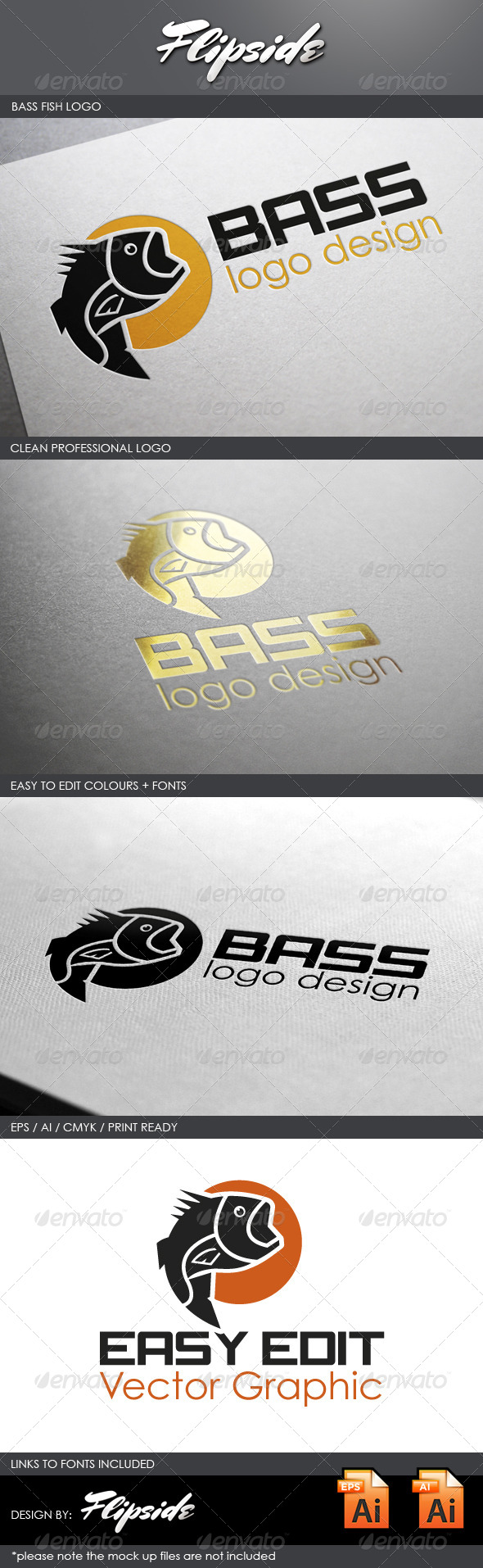 GraphicRiver Bass Fishing Logo 4327302