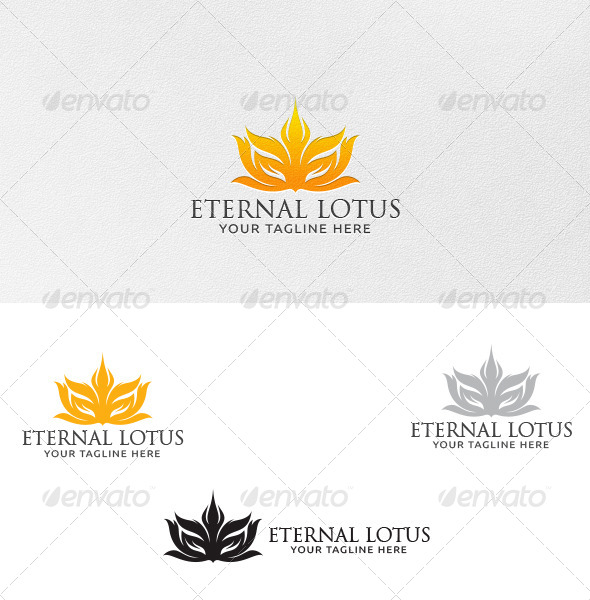 Eternal Lotus Logo Template