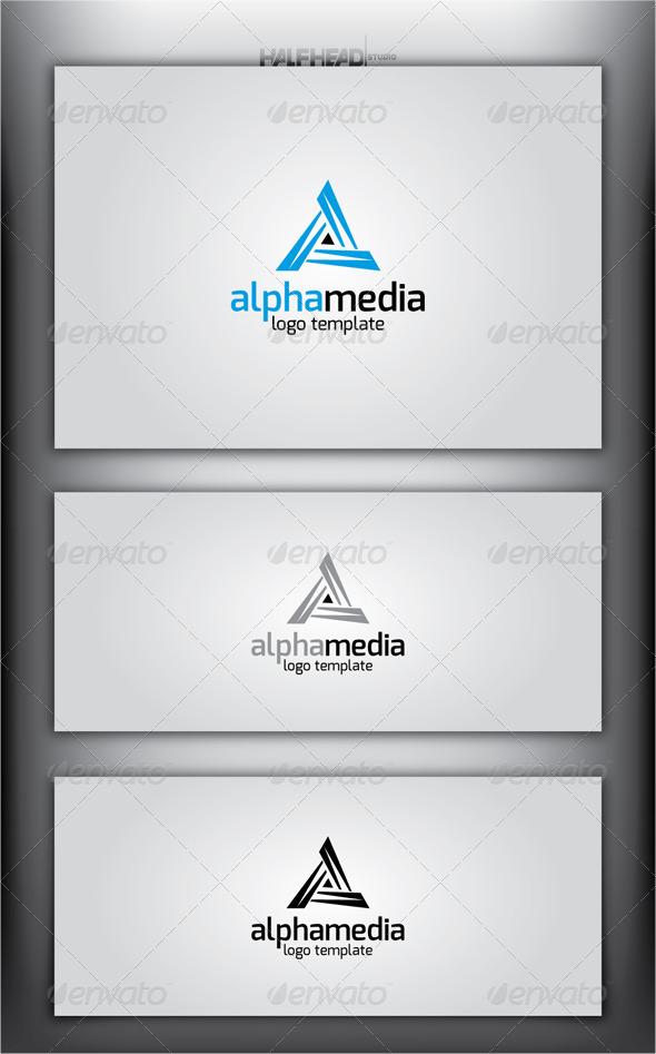 GraphicRiver ALPHA MEDIA Logo Template 4429439