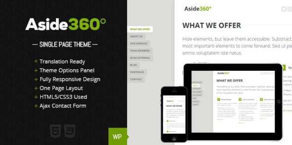 Aside 360° – Responsive single page portfolio - Portfolio Creative