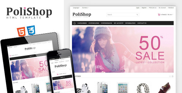 ThemeForest Polishop Responsive eCommerce Html Template 4410285