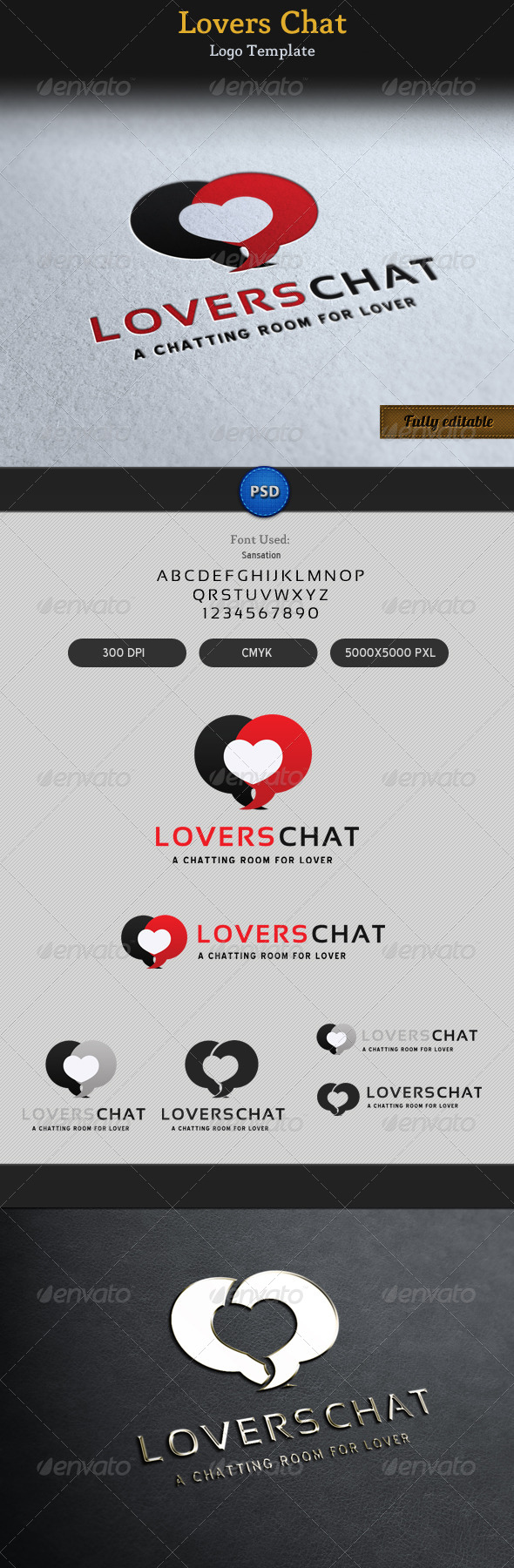 GraphicRiver Lovers Chat Romantic Talk Logo 4429673