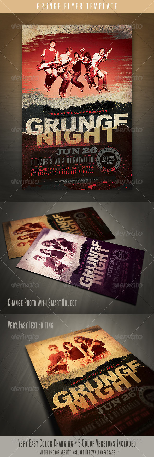 GraphicRiver Grunge Flyer Template 4429843