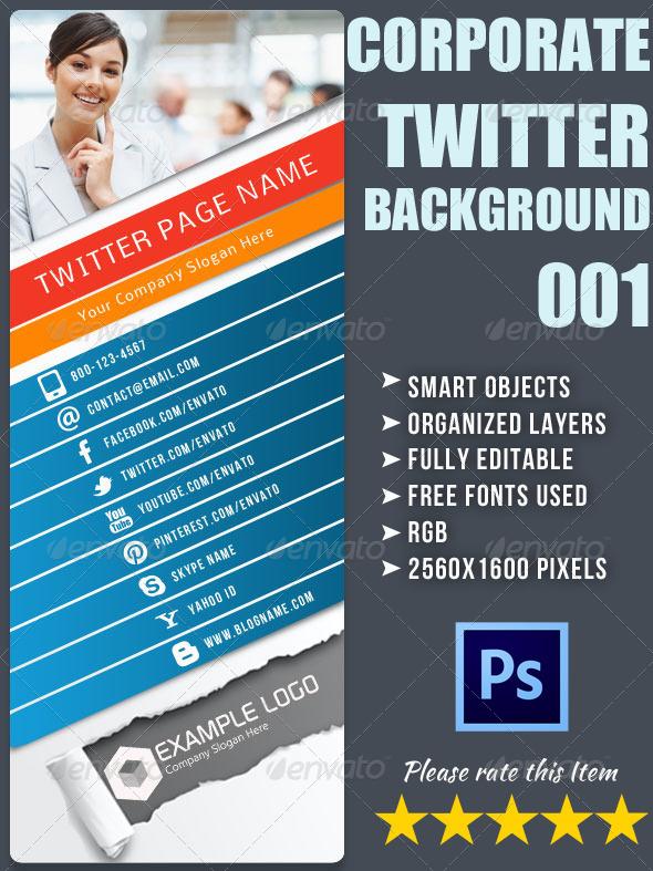 Corporate Twitter Background 01 - Twitter Social Media