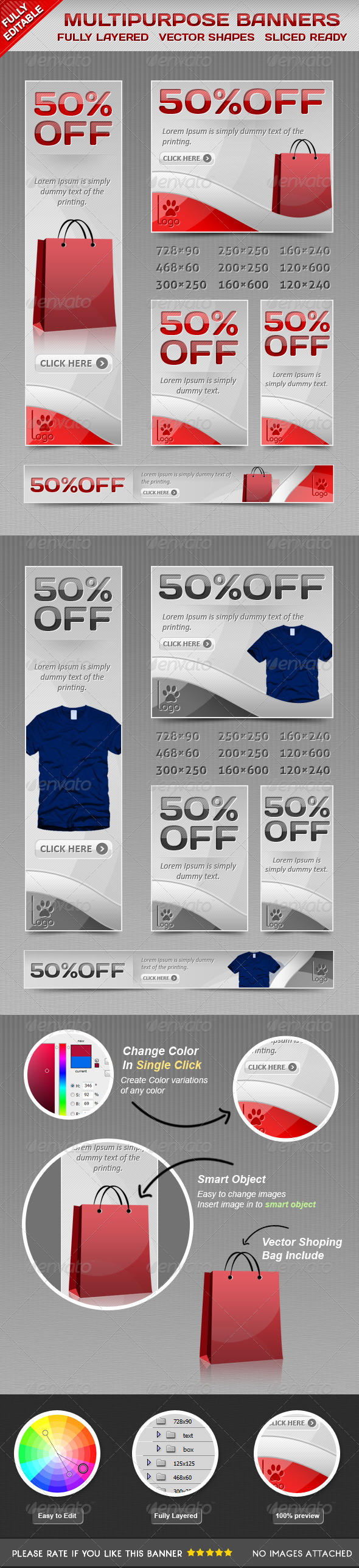GraphicRiver Modern Sales Banners 4430237