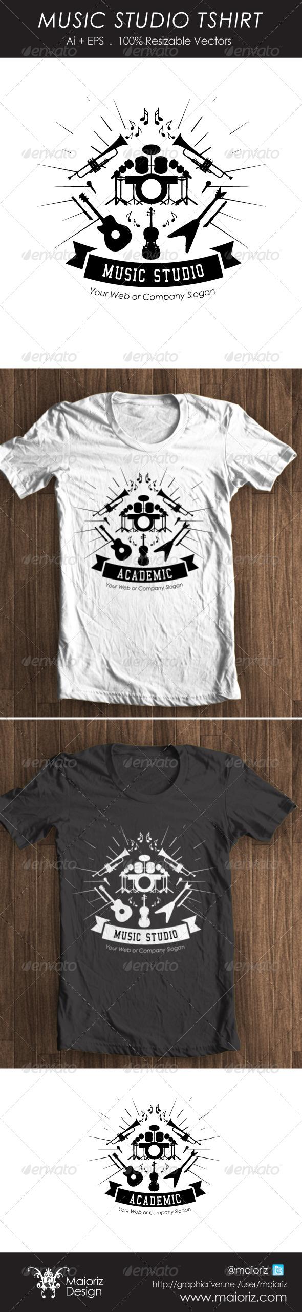 GraphicRiver Music Studio Tshirt 4367307