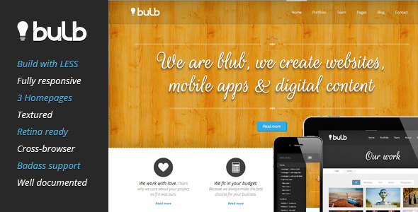 Bulb Responsive HTML Template