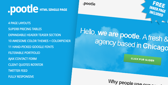 Pootle - Premium Responsive Single Page Template - Pootle - Responsive Single Page Template
