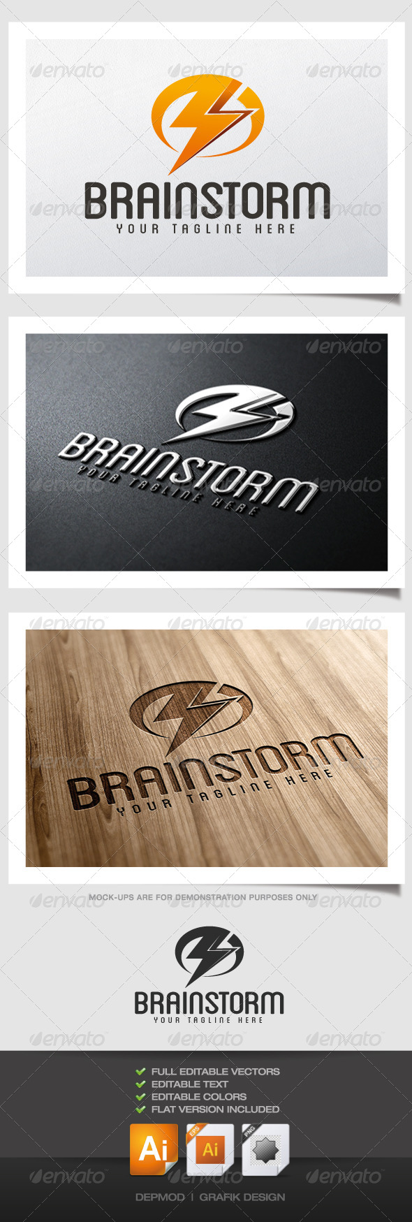 GraphicRiver Brainstorm logo 4431781