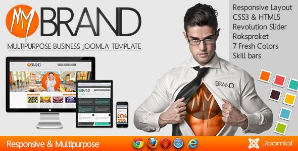 ThemeForest MyBrand Responsive Multipurpose Joomla Template 4431916