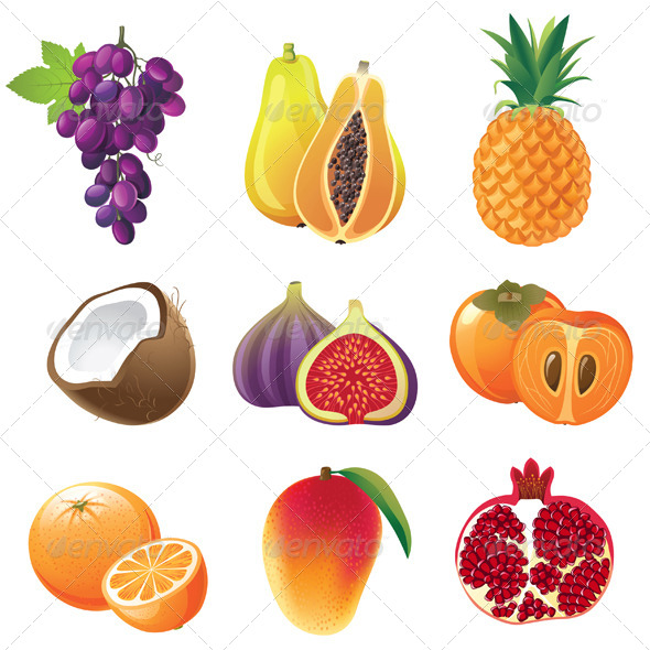 GraphicRiver Fruits Icons 4431920