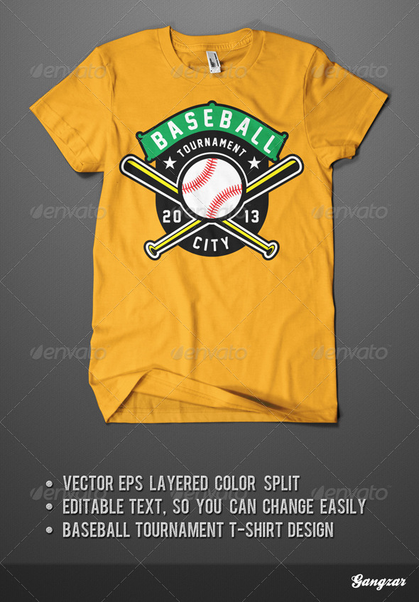 GraphicRiver Baseball Tournament T-Shirt 4431933
