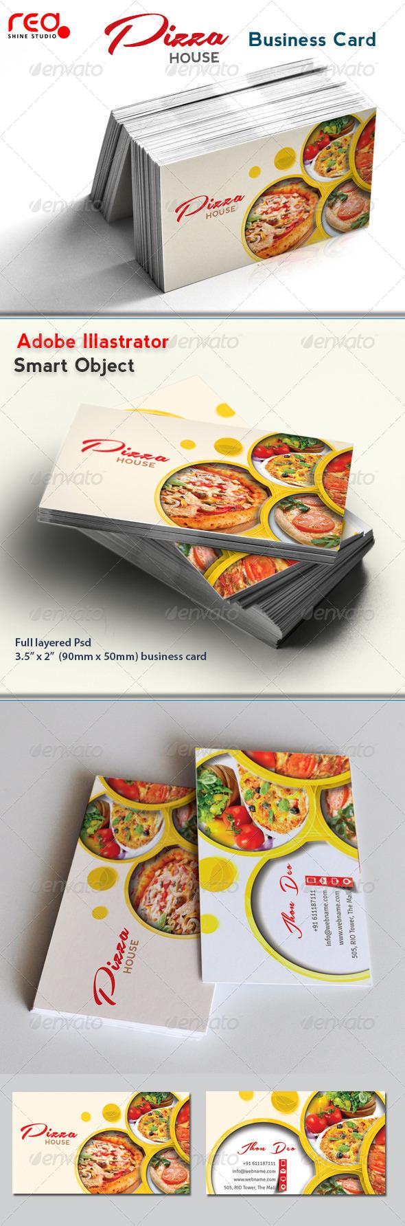 GraphicRiver Restaurant Business Card 4432059