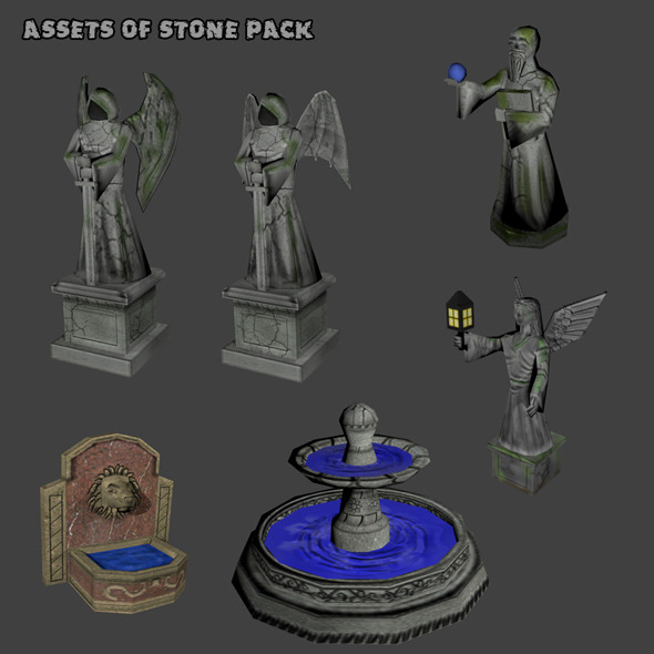 3DOcean Assets of Stone Pack 4416876