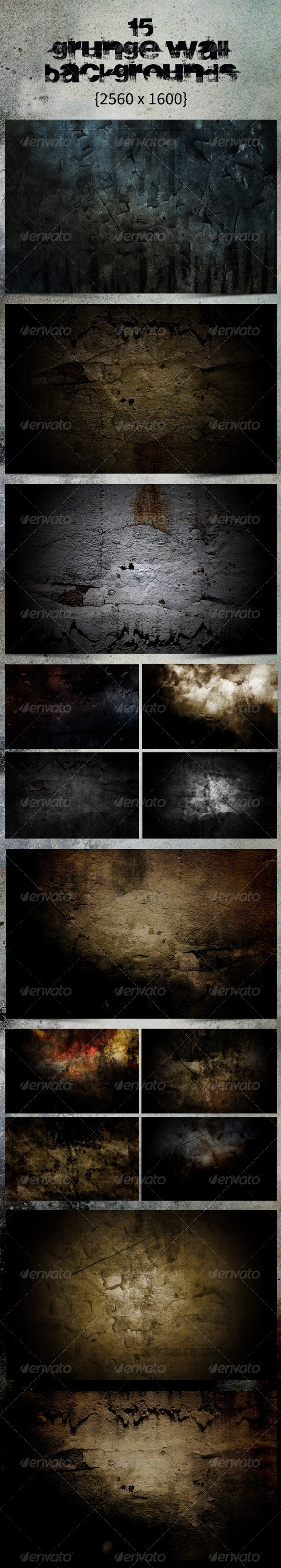 GraphicRiver 15 Grunge Wall Backgrounds Urban Decay 4432216