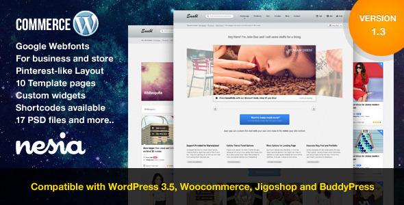Commerce - Versatile & Responsive WordPress Theme - ThemeForest Item for Sale
