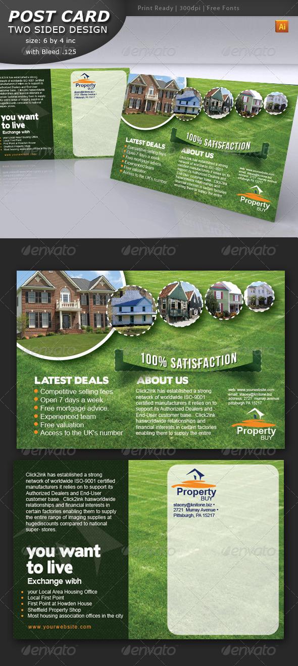 GraphicRiver Post Card Design 4299363