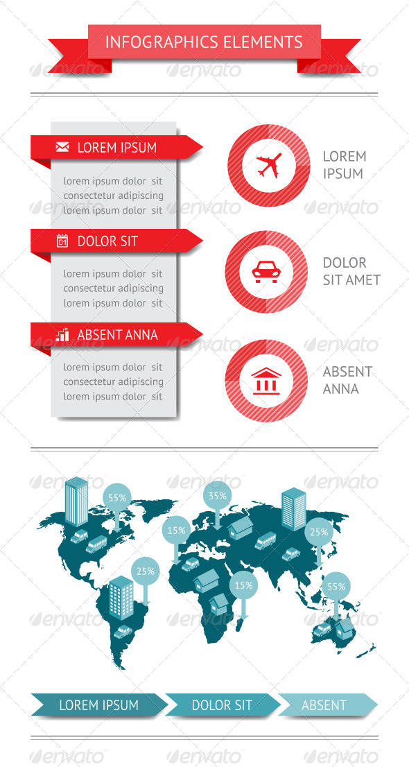 GraphicRiver Infographics and Web Elements 4432450