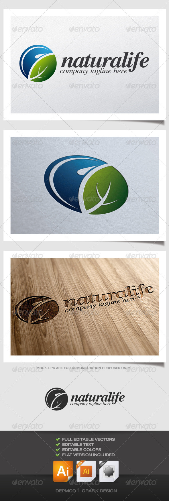 GraphicRiver Naturalife Logo 4432641
