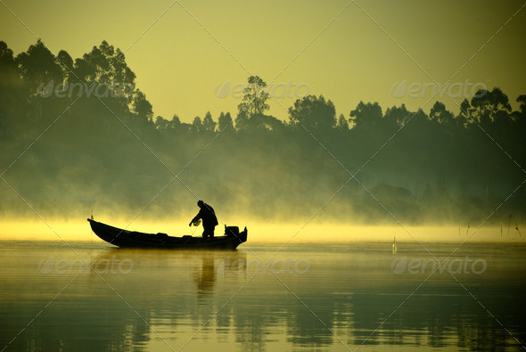 The fisherman - Stock Photo - Images