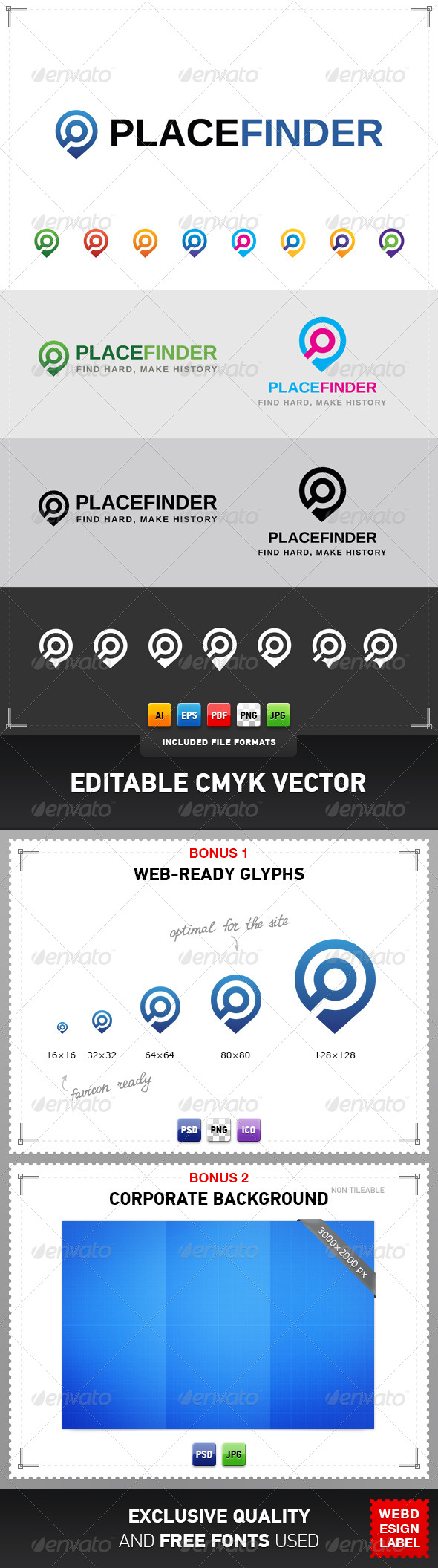 GraphicRiver Place Finder Logo 4343349