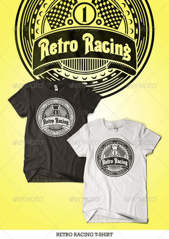 Retro Racing T-Shirt - T-Shirts