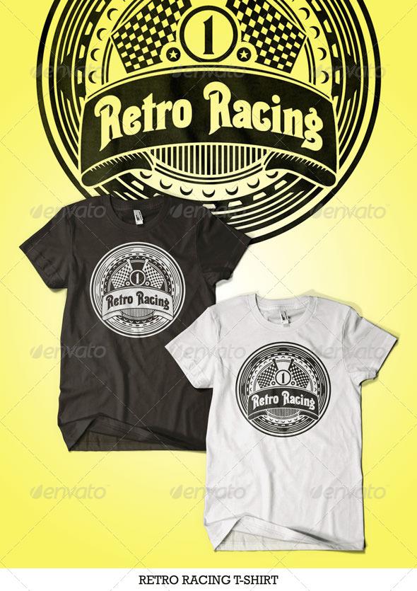 GraphicRiver Retro Racing T-Shirt 4365799