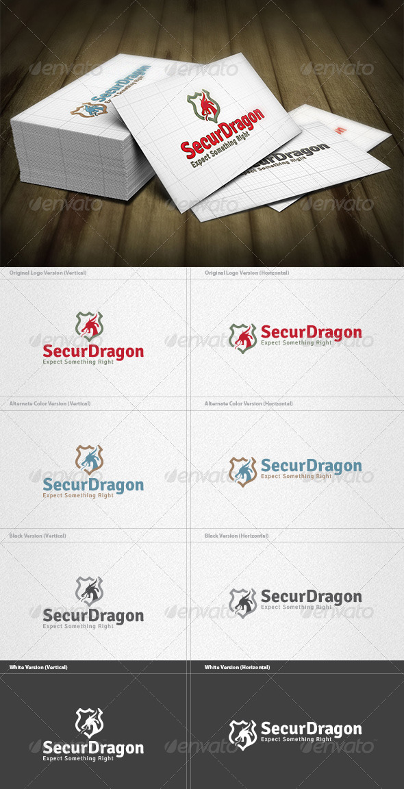 GraphicRiver Security Dragon Logo 4432805