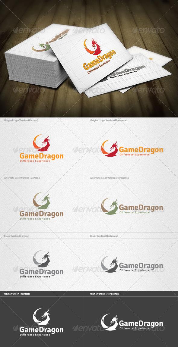 GraphicRiver Dragon Game Logo 4432885