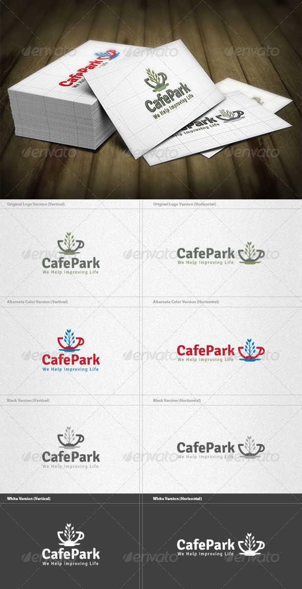 GraphicRiver Cafe Park Logo 4433023