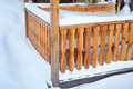 Detail of outdoor porch in winter - PhotoDune Item for Sale