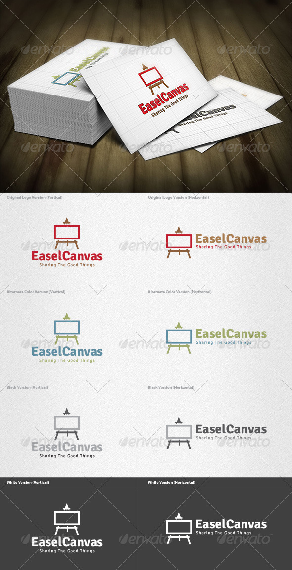 GraphicRiver Easel Canvas Logo 4433034