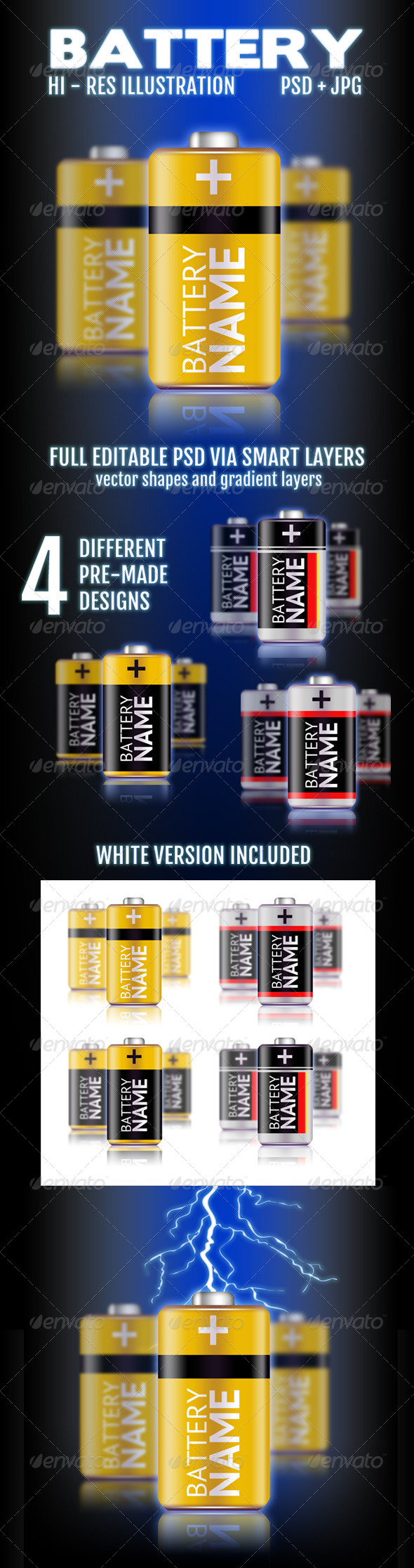GraphicRiver Battery Illustration 4433121